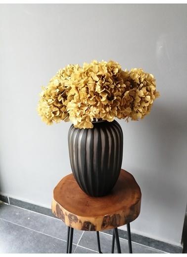 Kuru Çiçek Deposu Solmayan Gerçek Ortanca Buketi Sarı 4-5 Adet , Kuru Çiçek Sarı